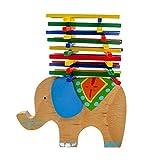Sharplace 41-teilig Holz Balancespiel Elefant Motorikspiel Stapelspiel Lernspiel Geschicklichkeitsspiel für Kinder - Mehrfarbig