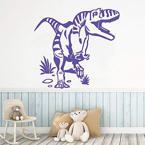 zqyjhkou Dinosaurier Wandaufkleber Abnehmbare Tapete Vinyl Kinderzimmer Aufkleber Kunst Dekoration Wohnkultur Wohnzimmer Wandbild 4 L 43 cm X 45 cm