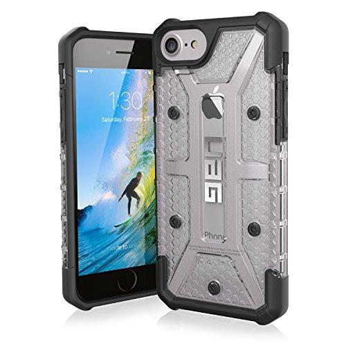 Urban Armor Gear Plasma Schutzhülle Nach US-Militärstandard für Apple iPhone 8/7/6S/6 - Transparent [Verstärkte Ecken | Sturzfest | Antistatisch | Vergrößerte Tasten] - IPH8/7-L-IC