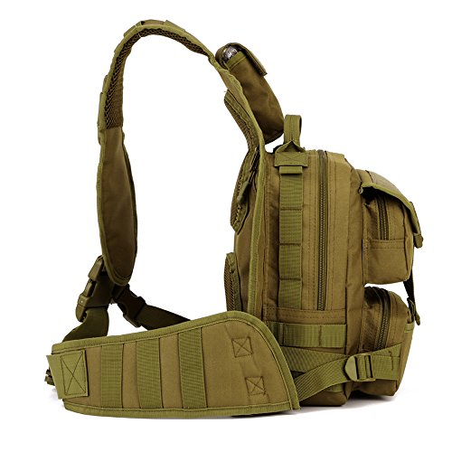 magcomsen Man Assault Rucksack Wandern Sling Pack Military Army Tactical Nylon Tasche Braun