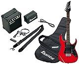 Ibanez IJRG200-BL Jumpstart Kit Guitare électrique avec Amplificateur/Casque Rouge