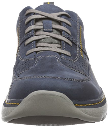 Clarks Charton Mix, Derby homme Bleu (Navy Leather)