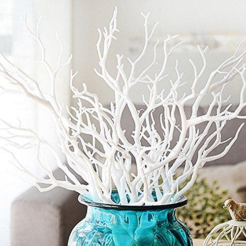 Emvanv ramo di albero artificiale, pianta finta per la decorazione della casa, White, Taglia libera