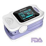Hylogy Oxímetro de Pulso Oxígeno Digital de Sangre con Cable para Llevar, Aaprobado por la...