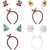 Redstar 4unidades de Navidad Jefe Boppers varios gorro de Navidad diseño de oficina fiestas de disfraces
