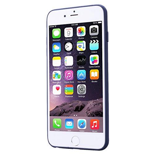 HB-Int 3 in 1 Custodia per Apple iPhone 6 / 6S ( 4.7 pollici ) Nero Gomma TPU Gel Silicone Case Flessibile Morbido Shell Custodia Fashion Design Caso Ultra Sottile Leggera Copertura Anti Graffi Resist Grigio