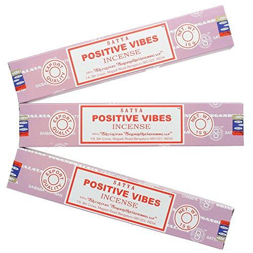 Satya Nag Champa positivo Vibes–Varillas de incienso, 3paquetes