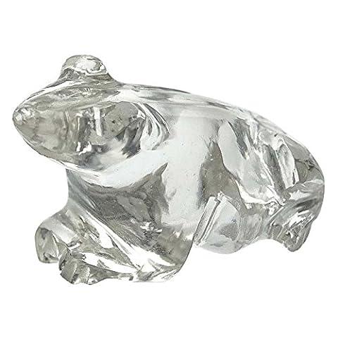 Frosch Figurine Crystal Clear dekorative Tischdekor-Geschenk-Auto-Dekor Geschnitzte (Kristall Frosch Figurine)