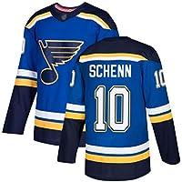 Schenn # 10 Blues Camiseta de Manga Larga para Hombres de Hockey sobre Hielo, Camiseta de Hockey sobre Hielo, Jersey de competición por Equipos, Traje de Entrenamiento, Camiseta Real S-XXXL