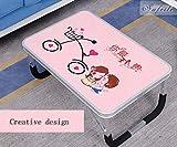 Tragbarer Klapptisch Laptop Stand Schreibtisch Picknick Camping Klapptisch Mit Griff (Farbe : Pink)