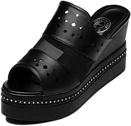 Zapatos de Mujer PU Zapatillas y Chanclas con Cordones y Sandalias de Verano Zapatillas para Caminar Zapato de...