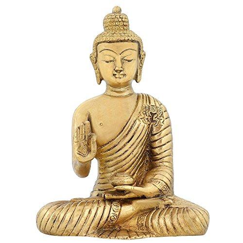 ShalinIndia Estatua de Buda Tibetano Medicina Buda Indio Arte Oriental decoración 6Inch