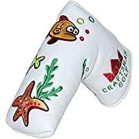 CRAFTSMAN GOLF Oceam World Fish Crab Seaweed White Blade Putter Headcover for Scotty Cameron Ping TaylorMade Odyssey Callaway Titleist