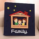 SESO UK- Creative Interstitial Fotoalbum, Jubiläum Hochzeit Baby Wachstum Memo Familienalben, für 600 Fotos mit Einer Größe von 5x3.5/14x10cm (3R) (Farbe : Blau)
