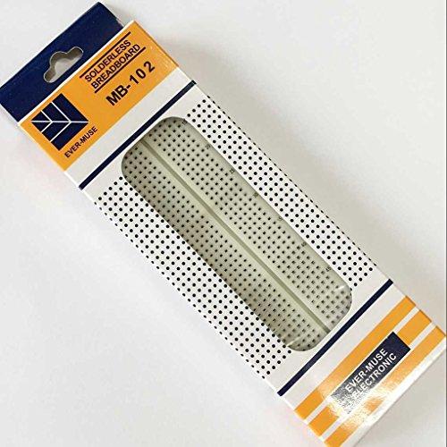 Aotejia Breadboard 830 Point Solderless PCB Brotbrett MB-102 MB102 für Arduino
