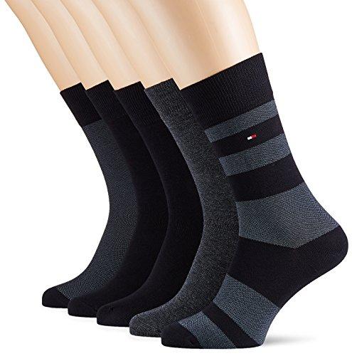 Tommy Hilfiger Herren Socken TH Men Birdeye Box 5P, 5er Pack, Schwarz (Black 200), 43/46 (Herstellergröße: 043)
