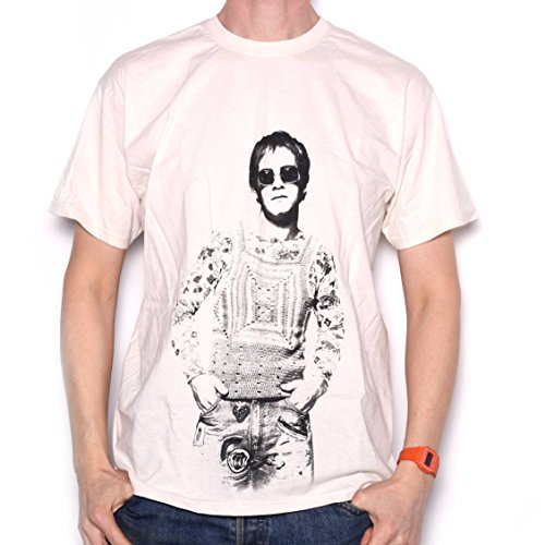Elton John T Shirt - Classic '72 Portrait 100% Officially Licensed