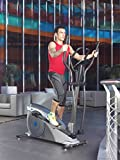 ION Fitness SHARP EMS FI232 crosstrainer, ellipsentrainer, 32 intensitätsstufen, rutschfeste pedale, mit pulsmessung