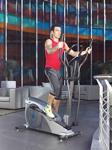 ION Fitness SHARP EMS FI232 crosstrainer ellipsentrainer 32 intensitätsstufen rutschfeste pedale pulsmessung