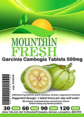 Garcinia Cambogia All Natural Tablets 30 x 500mg FREE UK Postage from Mountain Fresh