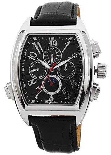 Burgmeister Armbanduhr für Herren mit Analog Anzeige, Automatik-Uhr und Lederarmband - Wasserdichte Herrenuhr mit zeitlosem, schickem Design - klassische Uhr für Männer - BM131-122 Sao Paulo