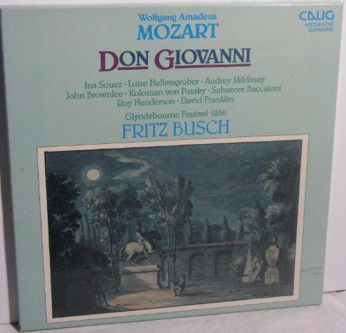 Wolfgang Amadeus Mozart Don Giovanni Dramma giocoso in zwei Akten KV 527 Libretto von Lorenze da Ponte, Fritz Busch (Glyndebourne Festival 1936), Ina Souez, Luise Helletsgruber