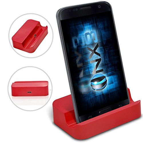 Stand Lg Base ((Red) LG K11 Desktop USB Base Stand Data Sync Charging Dock Station ONX3®)