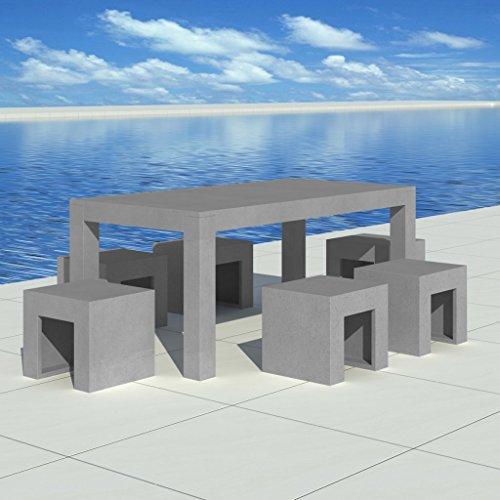 tischgruppe-aus-beton-1-tisch-6-stuhle