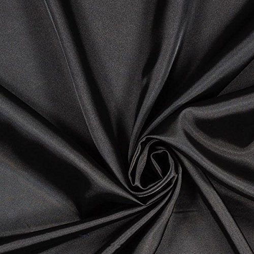 Fabulous Fabrics Stretch Satin - anthrazit - Meterware ab 0,5m - zum Nähen von Abendkleidung, Blusen und Tops