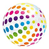 Intex-59065NP Pelota Hinchable, Lunares,, 107 cm (ColorBaby 59065)