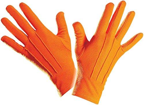 812/Orange–Handschuhe Polyester Orange Erwachsene Einheitsgröße Höchste Qualität–Größe 22cm (Anime-kostüm-ideen)