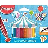 Maped M861311 - Waskrijtjes Color Peps Wax Jumbo, 12 stuks