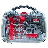 Kinder Werkzeugkoffer TOOL Bohrmaschine Koffer inkl. Zubehör Spielzeug Kunststoff Schraubenzieher Hammer