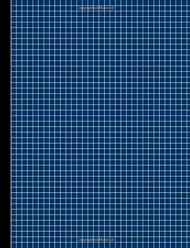 Graph Paper Notebook - Narrow Rule - 8.5 x 11 - Navy Blue 101: 101 Pages, Square Grid/Gridded Paper, Journal for School, Work, Play or Travel, Soft Cover por Legacy