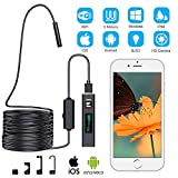 Duang Endoscope Inspection Camera,Wireless Inspection Camera WiFi Endoscope,1200P USB Borescope Waterproof IP68