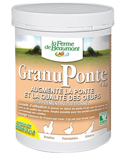 Fattoria di Beaumont granuponte 1kg-Favorisce la ovodeposizione Omega 3e 6granulato concentrati Pollame