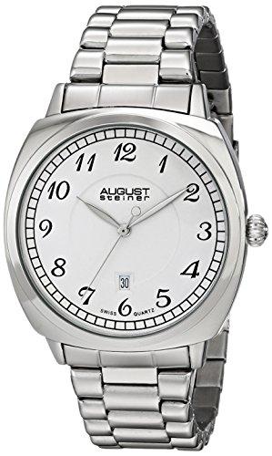 August Steiner Reloj Plateada para Hombre con Link pulsera