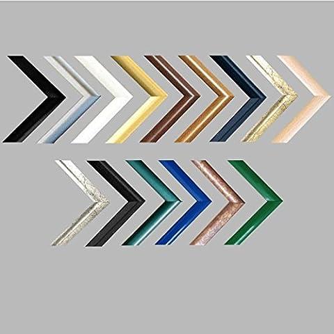 Easy Marco de plástico Para cuadros y pósteres 23x40 cm 40x23 cm Color selecionado: plateado antiguo Con vidrio