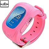 #10: La Eztilo Kids Tracker Smart Wrist Watch with GPS & GSM / Children Security / SOS Surveillance / GPS Positioning / Geo-fence / Two Way Communication / Pedometer / Remote Power Off / Alarm / Anti-lost / SIM Car Slot (Pink)