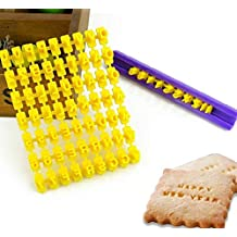 Juego de 72 piezas de moldes para galletas con número de alfabeto y letras