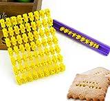 Set mit 72 Buchstaben und Zahlen für Kekse und Kekse