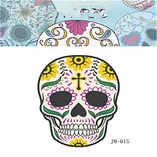 Umweltfreundliche wasserdichte Party Halloween Tattoo Aufkleber Shantou lustiges Kind Erwachsene Horror Gesicht Aufkleber 12 6x8,5 cm