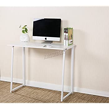 FoxHunter Foldable Computer Desk Folding Laptop PC Table Home