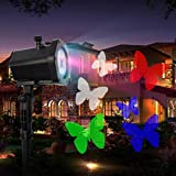 OOFAY LIGHT® LED Landscape Projector Can Change the Pattern Lights Christmas Waterproof Outdoor Snow Lamp Lawn Light