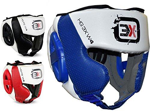 3x-sport-head-guard-caschetto-mma-ufc-muay-thai-kickboxing-protettiva-gear-training-blue-xl