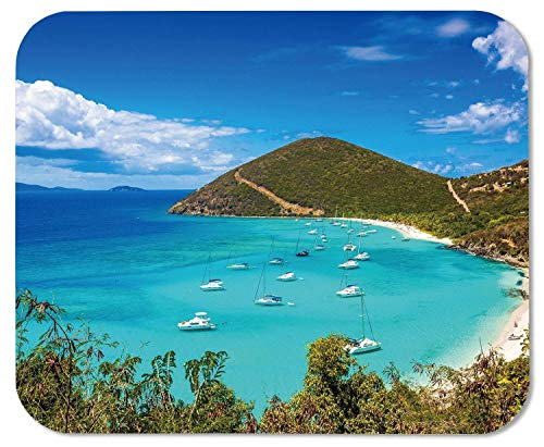 Drempad Gaming Mauspads Custom, Jost Van Dyke British Virgin Islands Customized Rectangle Mousepad, Mouse Pad -