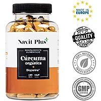 Cúrcuma Orgánica con BioPerine. Suplemento Nº 1 en Cúrcuma. Potente antiinflamatorio y antioxidante natural. 120 cápsulas vegetales con ingredientes de máxima calidad, pureza y efectividad. Cúrcuma ecológica 100% natural.