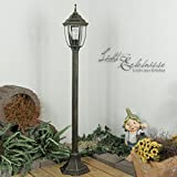 Licht-Erlebnisse Außen Stehleuchte Stehlampe in antik aus Aluguss E27 230V Wegeleuchte Weglampe Beleuchtung Hof Garten Aussen