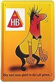 Blechschild HB Männchen 20x30 cm