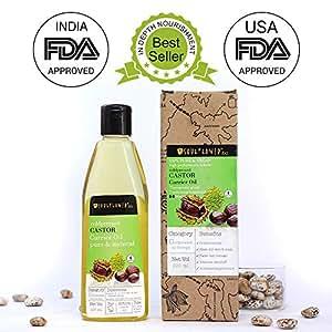 Soulflower Castor Oil for Hair, Skin and Beard Growth, 225ml